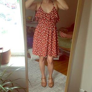 Orange Summer Flower Dress